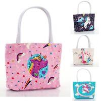 New Women's Unicorn Handbag PU Leather Lady Shoulder Tote Cosmetics Storage Bags
