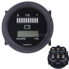 12V-72V LED Digital Battery Status Charge Indicator with Hour Meter Gauge New