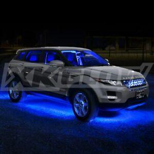 Car/Truck Led Under Glow Neon Strip Lights Kit 3 Pattern+ 8pc 24in Tube - BLUE