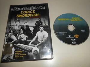 DVD - VIDEO-CODICE SWORDFISH -J.TRAVOLTA H.JACKMAN H.BERRY D.CHEADLE -ORIGINALE