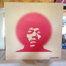 Original Jimi Hendrix Peinture sur toile signé par l'artiste libre Banksy postcar