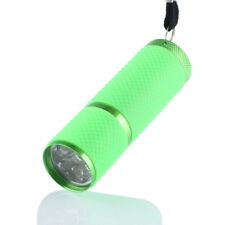 HOT Mini Aluminum UV Ultra Violet 9 LED Flashlight Torch Light Lamp Blacklight