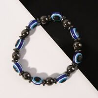 Health Care Weight Loss Round Black and Blue Stone Magnetic Therapy Bracelet