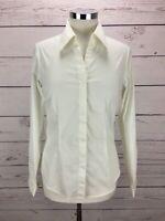 Coldwater Creek Women's Top White Long Sleeve Button-Down Shirt Size M, NWT