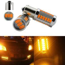 Amber 1156 33SMD LED Bulb Turn Signal Stop Light For Peugeot 206 207 307 308 406
