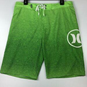 Hurley Swim Trunk Board Shorts Lime Neon Green  Men's 32