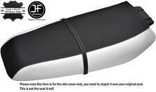 BLACK & WHITE CUSTOM FITS KAWASAKI ZXi 1100 900 96-02 VINYL SEAT COVER + STRAP