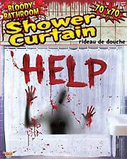 Forum Novelties Bloody Bathroom Shower Curtain