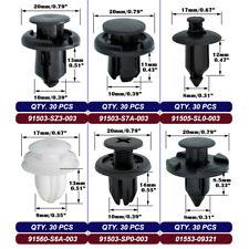 New Listing180pcs Clips Bumper Fascia Fender Splash Shield Trim Panel Push Rivet For Honda Fits 1991 Honda Civic