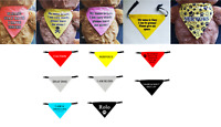 Dog Bandana HIGH Quality Price Personalised Message Neck Scarf Fashion Accessory