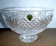 "Waterford Wedding Heirloom Footed Bowl 8"" Crystal Hearts Made/Ireland $400 New"