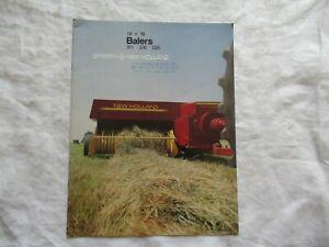 1984 Sperry New Holland 311 316 326 balers 14 x 16 brochure