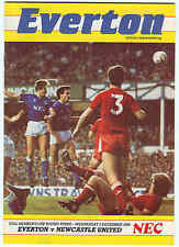 Everton v Newcastle United - Full Members Cup - 1986 - Football Programme