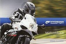 Hyosung Prospekt 2010 Motorrad Motorradprospekt ST700i GV650i GT650i R GV250i