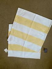 2 Pottery Barn Yellow Stripped Pillow Covers NWT