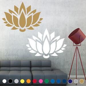 Lotus Flower Yoga Decal Sticker Symbol Buddhism Wall Door Room House Decor V1