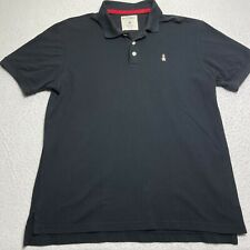 Hush Puppies Men's Size XL Polo Black Collared Short Sleeve Embroidered Shirt