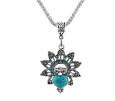 Turquoise Owl Bridal Necklace (only including one bead )