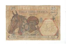 Afrique Occidentale - french west africa - 25 Francs  1939