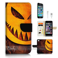 ( For iPhone 7 Plus ) Wallet Case Cover P3430 Halloween