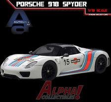 AUTOART 77927 1:18 PORSCHE 918 SPYDER WEISSACH PACKAGE WHITE/MARTINI LIVERY