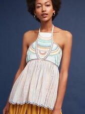 NEW WITH TAGS FLORET ANTHROPOLOGIE ITZEL HALTER TOP $98 SIZE 10 WOMEN'S