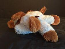 Carters Blue Brown Soft Lovey Puppy Dog Plush Stuffed Animal Flat