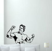 Arnold Schwarzenegger Wall Decal Gym Vinyl Sticker Bodybuilding Decor Art 166hor