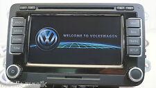 VW RNS 510 SAT NAV DVD MP3 SD UNIT 1T0035680C 2018 V15 MAPS GENUINE RNS510 LCD
