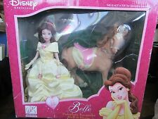 2003 Disney's Belle Porcelain Keepsake Doll & Horse NEW