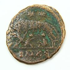 Ancient Roman Coin - Wolf Design w/Romulus and Remus c. 100 - 375 A.D. st4153