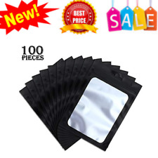 Resealable Ziplock Food Storage Bags Clear Window Coffee Beans Packaging Pouch