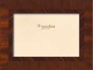 Natalini Hand Made in Italy Brown Wood Marquetry Photo Picture Frame