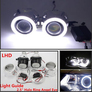 "Pairs 2.5"" HID Bi-xenon Projector Lens LHD/RHD headlight w/Light Guide &Inverter"
