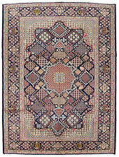 Vintage Oriental Najafabad Rug, 10'x13', Blue, Hand-Knotted Wool Pile