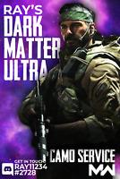 Dark Matter Camo Service [PS PC XBOX] Call of Duty: Warzone DM Ultra
