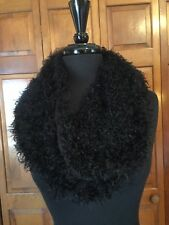 Furry Black Infinity Sweater Scarf