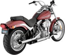 Python Pair Steel Chrome Slash Cut Motorcycle Mufflers 07-17 Harley Softail FXST