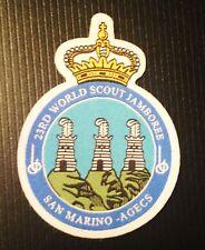 23rd world scout jamboree San Marino contingent badge 2015