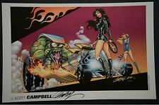 Danger Girl J. Scott Campbell Print The Race