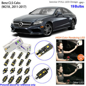 19 Bulbs Deluxe LED Interior Light Kit Xenon White For W218 2011-2017 Benz CLS