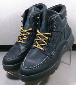 IVAN GT NAVY MMMSBT70 Men's Shoes Size 8 EUR 7.5 Leather Lace Up Boots Mephisto