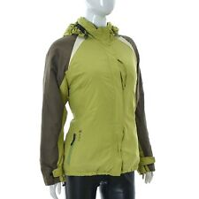 Aigle Womens for lady jacket Hoodie Size 38 Neon/Grey green zip Authentic