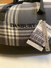 DanBury King size 4 Piece Comforter Set 100% Cotton Yarn Dyed Flannel