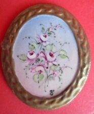 vintage CAPODIMONTE MADE in ITALY miniature dollhouse floral painting art 1:12