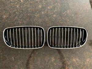 BMW e88 OEM Chrome/black Kidney Grill Pair