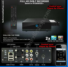 eu Mediacenter con HDD 1TB, DVR recorder HD-TV Ricevitore DVB-T HDMI MKV BLU-RAY