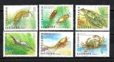 Animaux Crustacés Bulgarie (85) série complète 6 timbres oblitérés