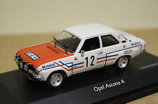 Opel Ascona A Rally #12 GREDER RACING blanc-rouge 1:43 Schuco NOUVEAU & NEUF dans sa boîte 2659