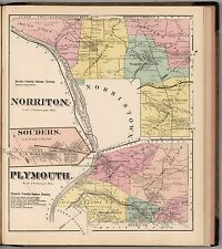 MONTGOMERY COUNTY PENNSYLVANIA 1871 state old map GENEALOGY LAND OWNER DVD P18
